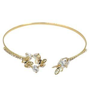 Fashion crystal butterfly golden bracelet